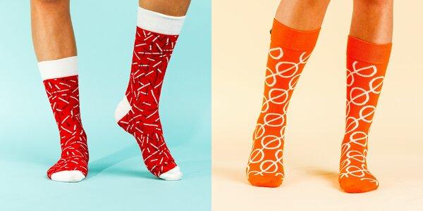 Vzorované designové ponožky LØVE+FUN SOCKS