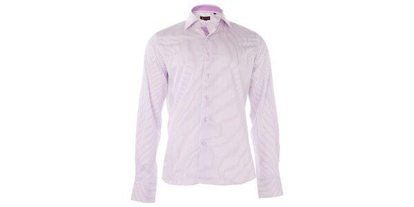 Pánská světle fialová proužkovaná košile 7camicie