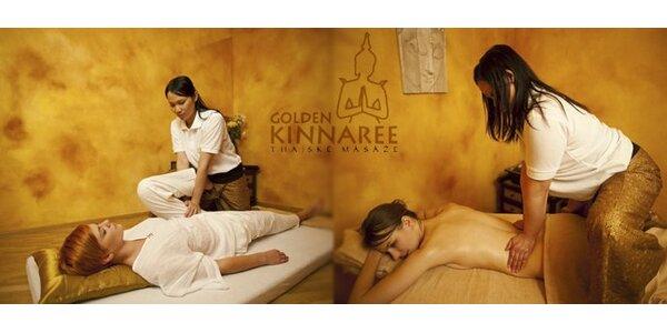 499 Kč za pravou thajskou masáž (60 min) v salonech Golden Kinnaree!