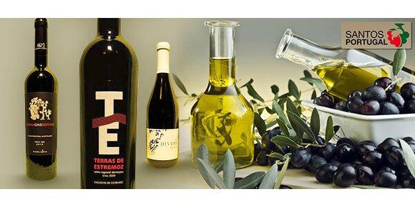 Balíčky portugalských vín a delikates