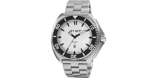 Analogové ocelové hodinky Jet Set