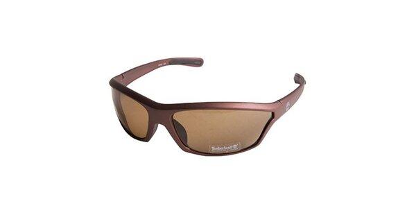 Hnědé metalické sluneční brýle Timberland