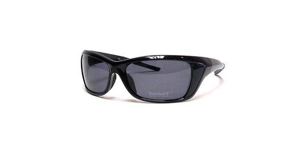 Lesklé černé sluneční brýle Timberland