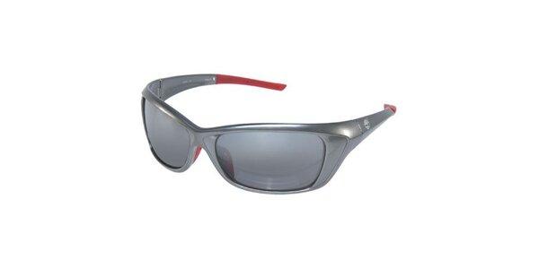 Stříbrné sluneční brýle Timberland s červenými nožičkami