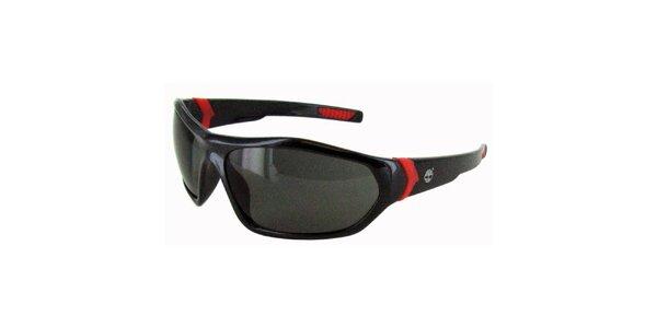 Černé sluneční brýle s červenými neonovými detaily Timberland
