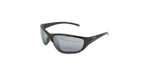 Černé sluneční brýle Timberland s modrým zatmavením