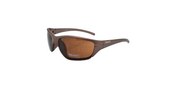 Hnědé metalické brýle Timberland