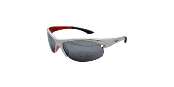 Stříbrno-červené sportovní sluneční brýle Timberland