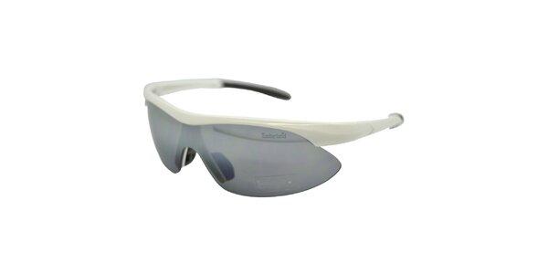 Bílé sportovní sluneční brýle s šedými skly Timberland