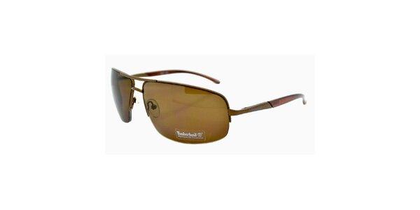 Hnědé sluneční brýle s hnědě tónovanými skly Timberland