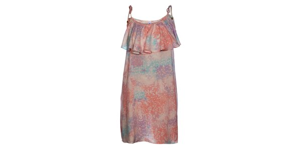 Dámské růžovofialové šaty Mambo s volánem