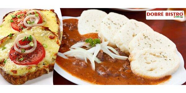 Libovolné pokrmy v hodnotě až 200 Kč. Řízky, guláš i svíčková