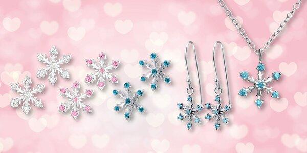 Stříbrné šperky s motivem vloček
