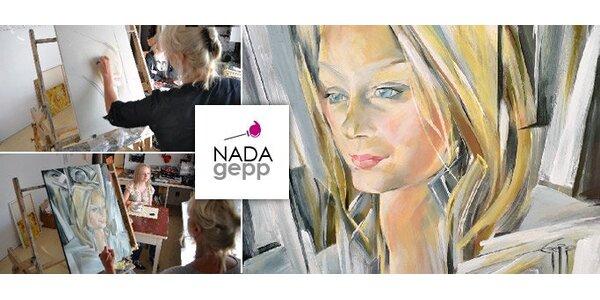 Vlastní portrét od renomované malířky Nady Gepp!