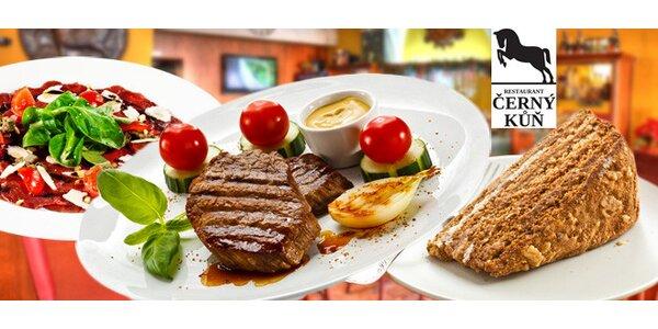 40% sleva na jakékoliv jídlo z menu Černého koně