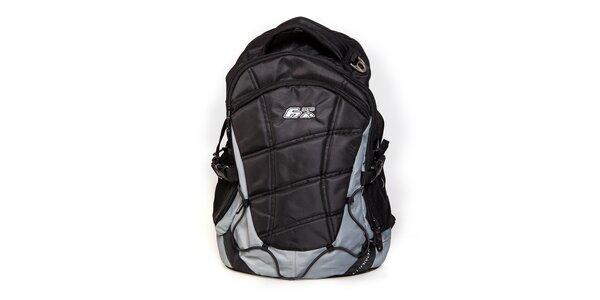 Šedo-černý sportovní prošívaný batoh F7 Charon