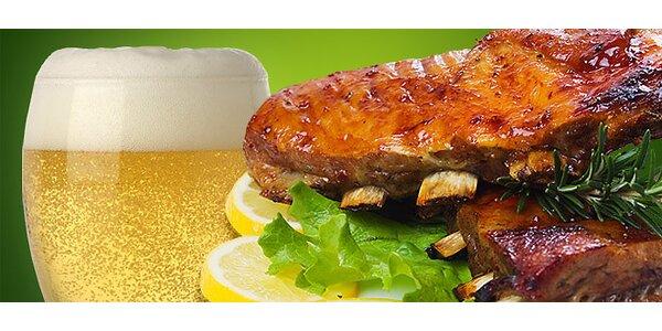 Vepřová žebírka pečená na medu a piva pro DVA. Dobrota pečená na grilu (1 kg),…