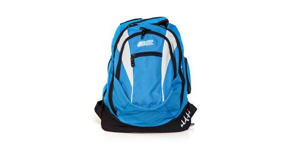 Světle modrý městský batoh F7 Hati s bílými vsadkami