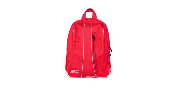 Červený batoh F7 Leda II. s bílým lemem