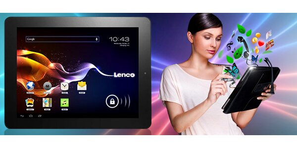 "Tablet Lenco s Androidem a 9,7"" LCD displayem"