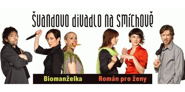Do Švandova divadla na hry Biomanželka a Román pro ženy