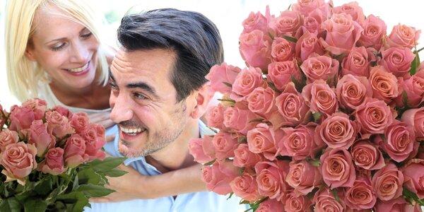 Kytice růží Ace Pink se vzkazem a rozvozem po ČR