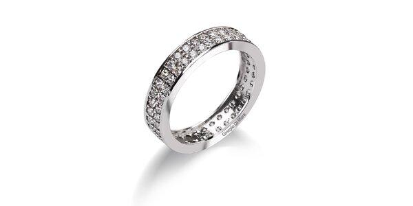 Dámský široký prsten se zirkony Giorgio di Mare