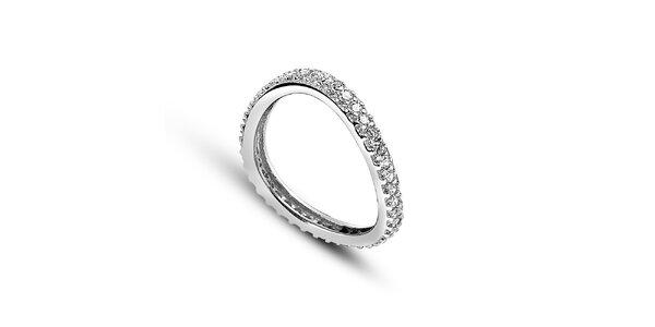 Dámský asymetrický prsten se zirkony Giorgio di Mare