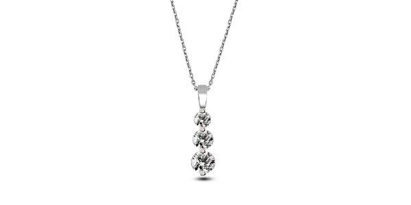 Dámský náhrdelník se třemi zirkony Giorgio di Mare