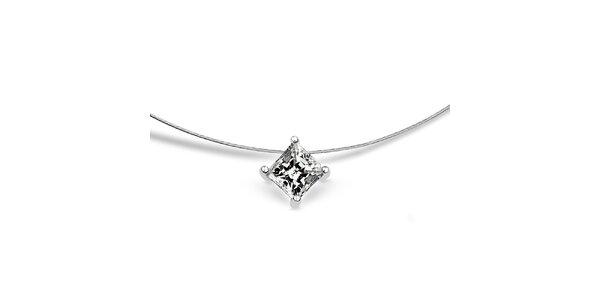 Dámský stříbrný náhrdelník se čtvercovým zirkonem Giorgio di Mare
