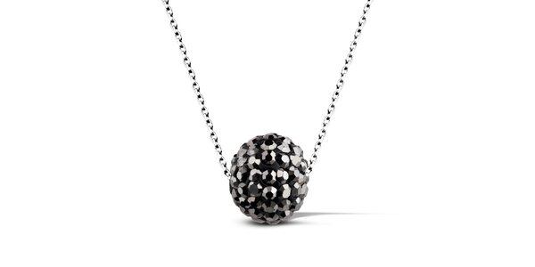 Dámský náhrdelník s černou disko koulí Giorgio di Mare