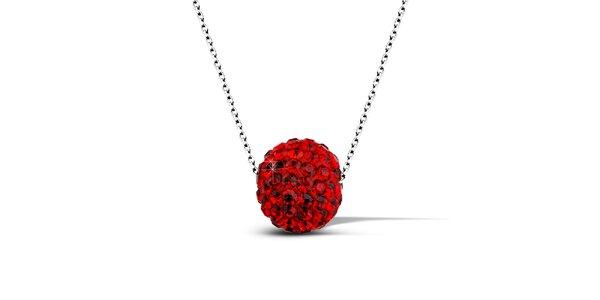 Dámský náhrdelník s červenou disko koulí Giorgio di Mare