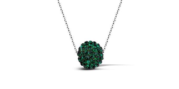 Dámský náhrdelník se zelenou disko koulí Giorgio di Mare