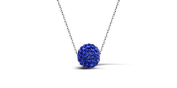 Dámský náhrdelník s modrou disko koulí Giorgio di Mare
