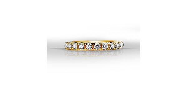 Dámský pozlacený prsten se zirkony Giorgio di Mare