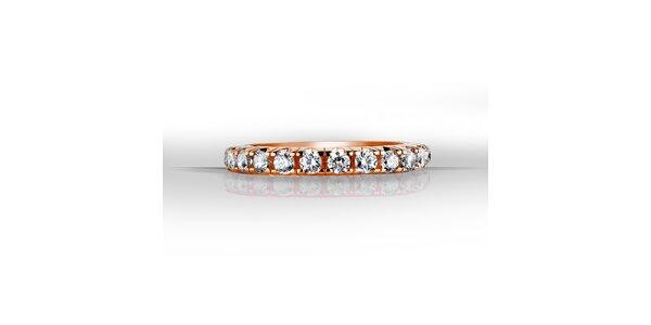 Dámský růžový prsten se zirkony Giorgio di Mare