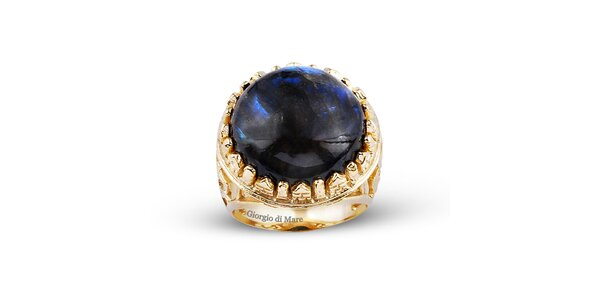 Dámský pozlacený prsten s labradoritem Giorgio di Mare