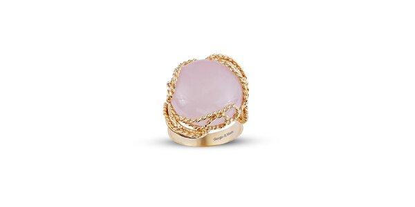 Dámský pozlacený prsten s růženínem Giorgio di Mare