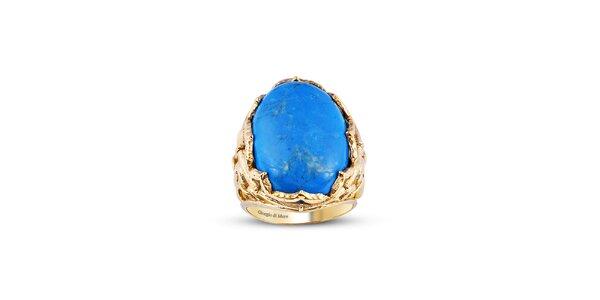 Dámský pozlacený prsten s tyrkysem Giorgio di Mare