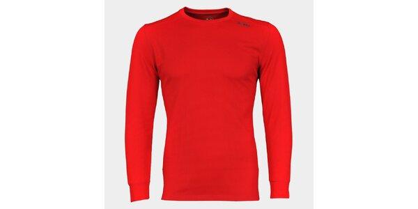 Pánské červené funkční tričko Sweep s dlouhým rukávem