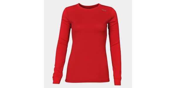 Dámské červené funkční tričko Sweep s dlouhým rukávem