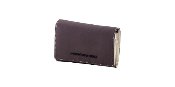 Šedo-bílá peněženka Mandarina Duck