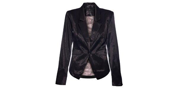 Dámské černé saténové sako Vero Moda