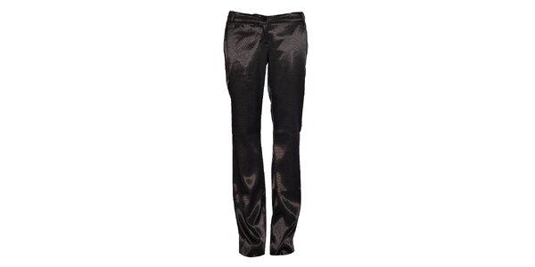 Dámské černé saténové kalhoty Vero Moda s puky