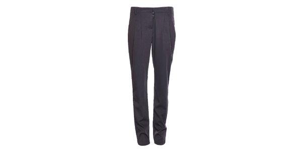 Dámské tmavě šedé společenské kalhoty Vero Moda