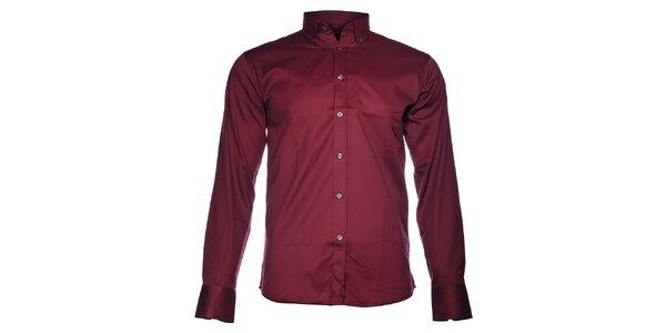 Pánská rubínově červená košile Selected
