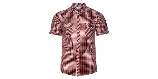 Pánská červená kostičkovaná košile Selected s krátkým rukávem