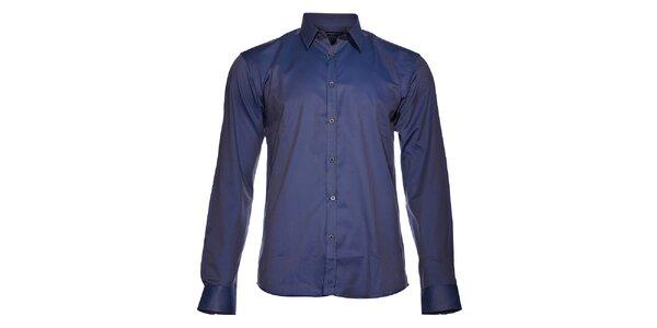 Pánská šedomodrá metalízová košile Selected