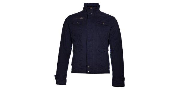 Pánská tmavě modrá bunda Selected s tlustou podšívkou