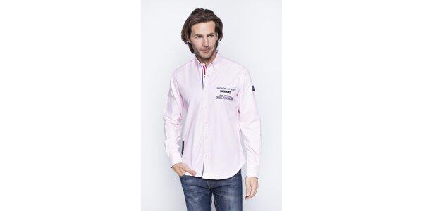 Pánská světle růžová košile Giorgio di Mare